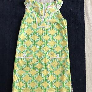 Lilly Pulitzer Green/Yellow Shift Dress